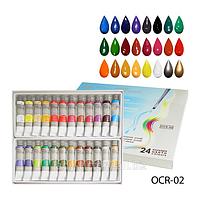 Художественные краски на масляной основе, масляные краски набор 24 цвета. OCR-02