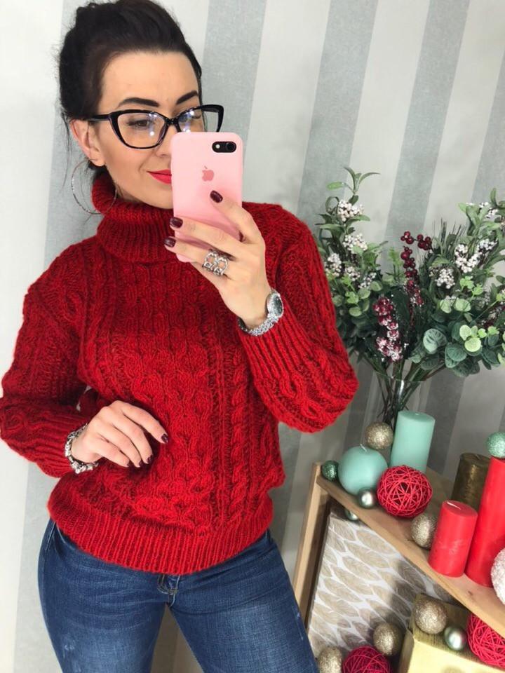 Женский теплый свитер РАЗНЫЕ ЦВЕТА(Фабричный Китай ) Код 0281