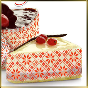 "Лента бордюрная ""Вышиванка"" красно-белая 50мм. (код 03330)"
