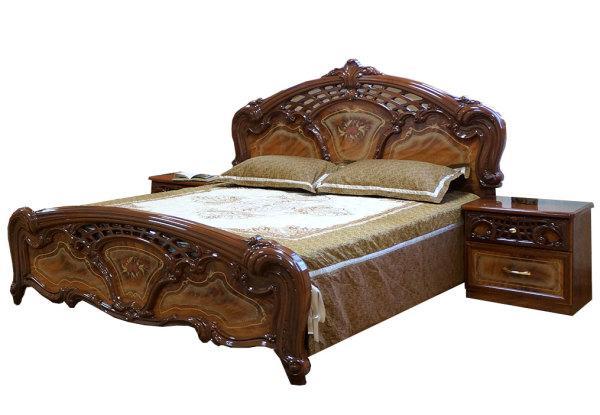 Ліжко Кармен Нова 1,6 Горіх лак (Світ Меблів TM)