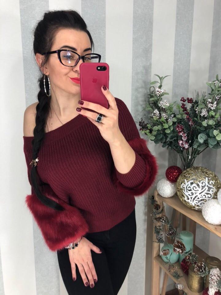 Женский шикарный теплый свитер РАЗНЫЕ ЦВЕТА(Фабричный Китай ) Код 0284