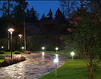 Очарование освещения в саду