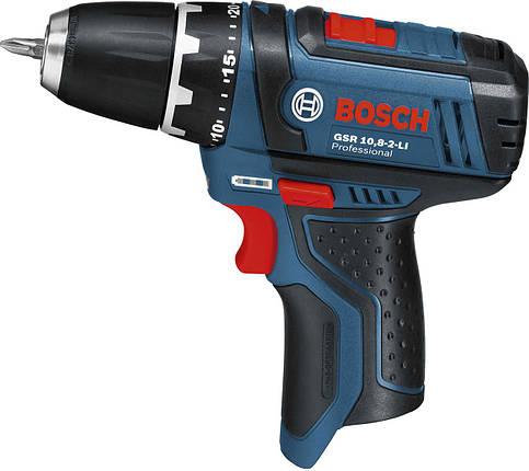 Дрель-шуруповерт Bosch GSR 10.8-2-LI Professional 0601868101 , фото 2