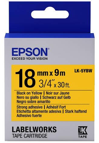 Картридж с лентой Epson LK5YBW принтеров LW-400/400VP/700 Strng adh Blk/Yell 18mm/9m, фото 2