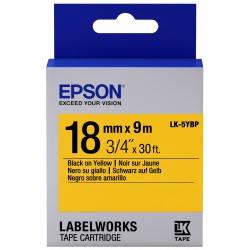 Картридж с лентой Epson LK5YBP принтеров LW-400/400VP/700 Pastel Blk/Yell 18mm/9m, фото 2