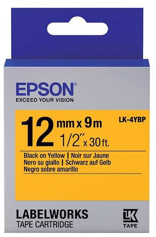 Картридж с лентой Epson LK4YBP принтеров LW-300/400/400VP/700 Pastel Black/Yellow 12mm/9m, фото 2