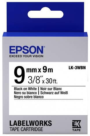 Картридж с лентой Epson LK3WBN принтеров LW-300/400/400VP/700 Std Blk/Wht 9mm/9m, фото 2