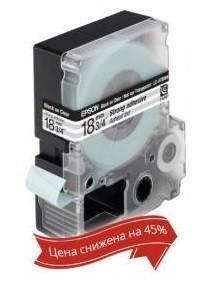Картридж с лентой Epson LK5TBW принтеров LW-400/400VP/700 Strng adh Blk/Clear 18mm/9m
