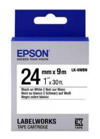 Картридж с лентой Epson LK6WBN принтеров LW-700 Std Blk/Wht 24mm/9m, фото 2