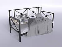 Металлический диван-кровать с задней спинкой Тарс Tenero спальный одноместный