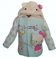 Качественная, яркая, веселая курточка для девочек 1-3 лет