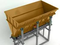 Бункер хранения инертных материалов (песка и щебня) с ленточным питателем