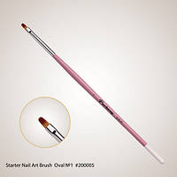 Starter Nail Art Brush Oval №1