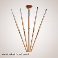 Mini Nail Art Brush Pro Set 5