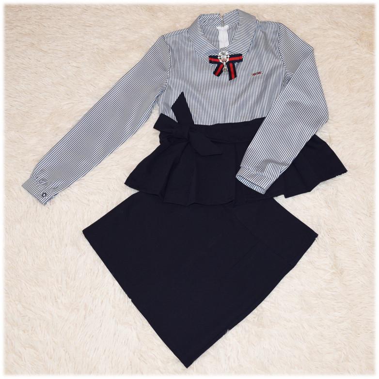 Костюм школьный для девочки (блуза + юбка) 152