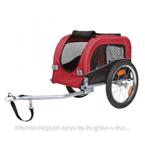 Велоприцеп для перевозки животных (до 20 кг) 38х38х60 см