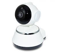 Поворотная WiFi камера V380 (2Mp, 360 градусов, WiFI, Lan, P2P, MicroSD, IR)