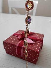 Позолоченный комплект украшений с разноцветными Swarovski бижутерия, фото 2