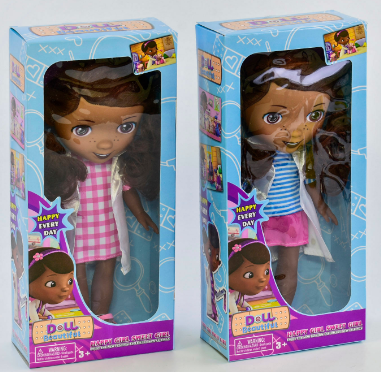 Кукла Доктор плюшева 9192 А в коробке