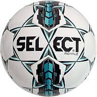 Мяч Футбольный Select Royal, бело-серо-бирюзовый, р.4, не ламинированный, нормальный отскок, фото 1