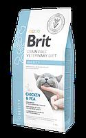 Корм Брит Обесити Brit Obesity беззерновой для кошек диета при ожирении 2 кг