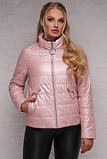 Новинка! стильная женская демисезонная куртка розового цвета, размер: 4xl,7xl, фото 2