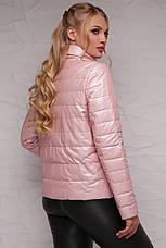 Новинка! стильна жіноча демісезонна куртка рожевого кольору, розмір: 4xl,7xl, фото 3