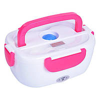 ✅Ланч бокс судочек термос пищевой электрический с подогревом от 220V Electric Lunch Box 3166YY/ 220V Розовый