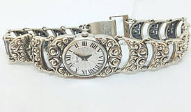 Серебряные часы. Артикул 7100036