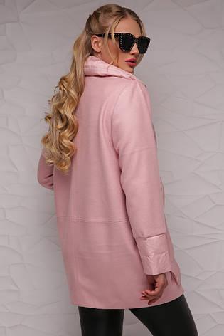 Новинка! стильна жіноча демісезонна куртка рожевого кольору, розмір: 4xl,7xl, фото 2