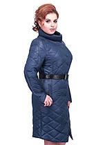 Женское весеннее стеганное пальто утеплителем, фото 2
