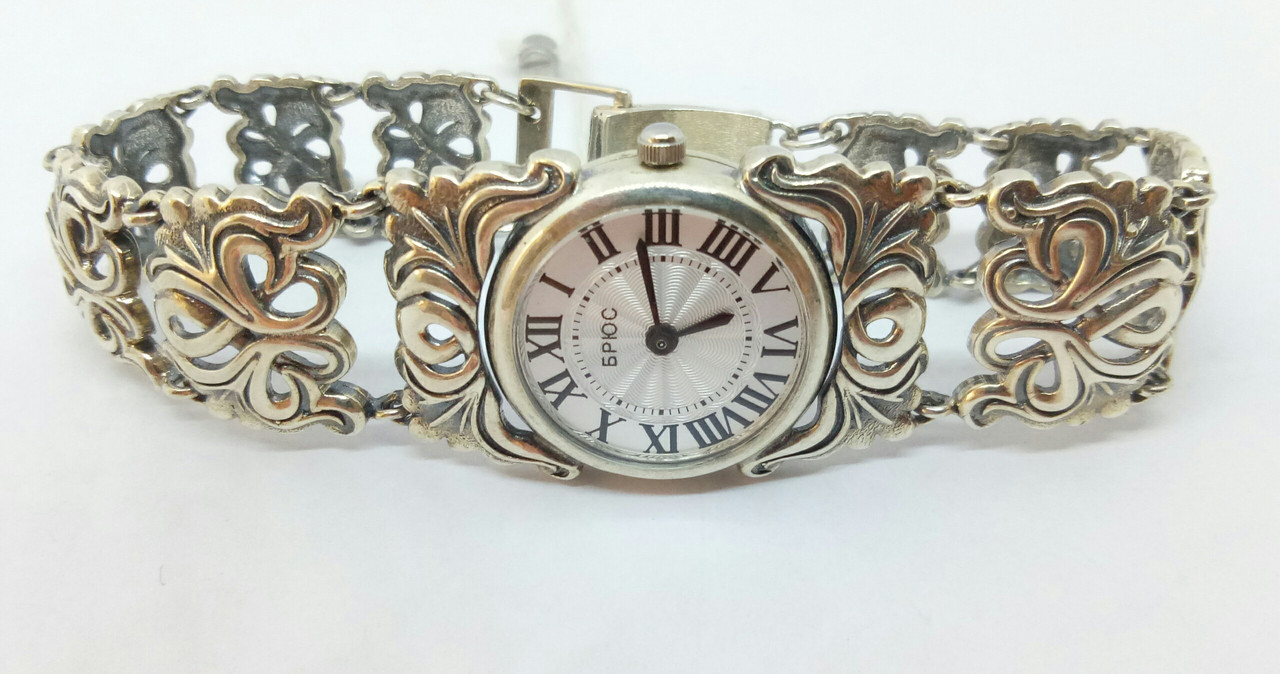 Серебряные часы. Артикул 7100039