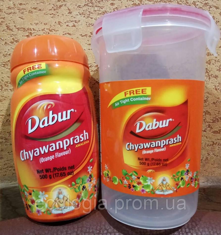 Чаванпраш Orange Апел Dabur Индия + контейнер: укрепление иммунитета, защитные свойства организма,энергия! 500
