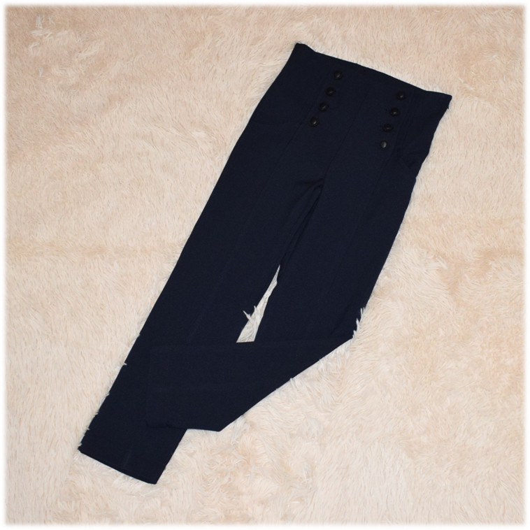 Брюки школьные для девочки синие ТМ Newpoint размеры 116 134