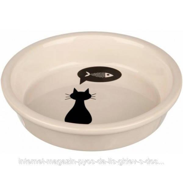 """Миска """"Cat"""" Трикси Trixie для кота (0,25 л/13 см)"""