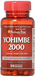Жиросжигатель Puritans Pride Yohimbe 2000 mg 50 caps