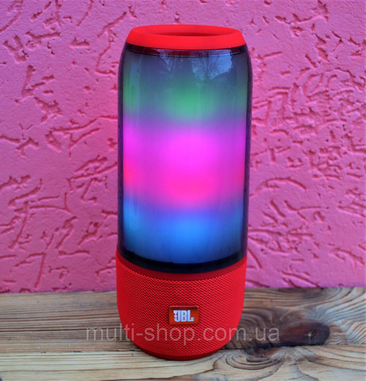 Портативная Bluetooth акустика/Колонка в стиле JBL Pulse 3 с цветомузыкой