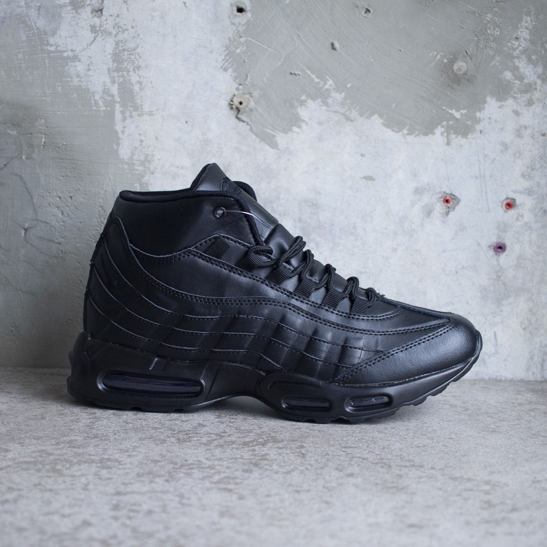 Мужские зимние кроссовки Nike Air Max 95 Winter Black (в стиле Найк Аир Макс ) 8ea23c3eb78
