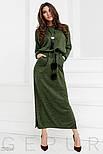 Теплое платье-реглан зеленого цвета, фото 2