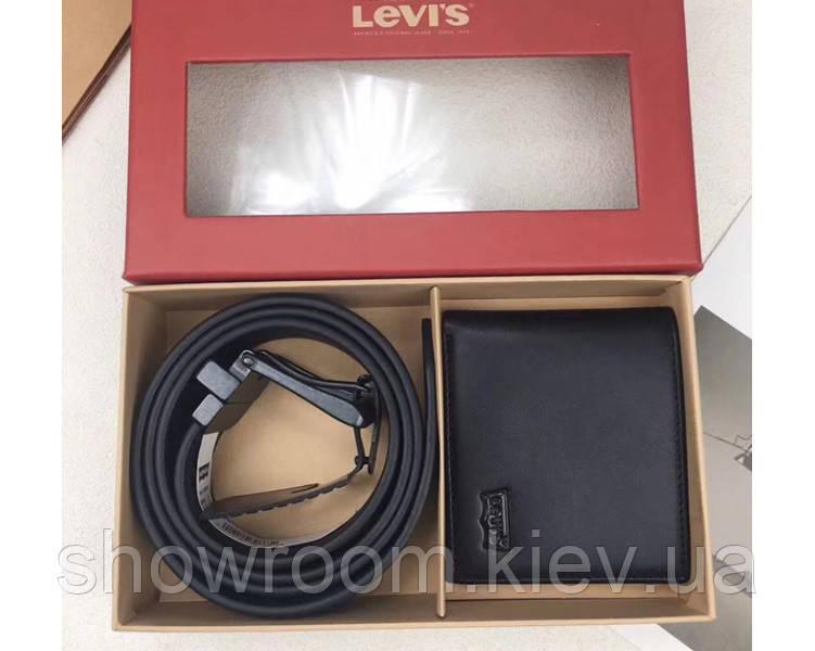 Мужской подарочный набор портмоне и ремень в стиле Levis (509)