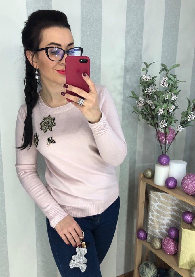 Женский оригинальный свитер РАЗНЫЕ ЦВЕТА(Фабричный Китай ) Код 192
