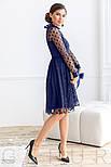 Расклешенное платье-миди синего цвета, фото 2