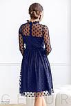 Расклешенное платье-миди синего цвета, фото 3