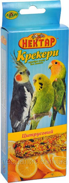"Лори ""Нектар""- крекер для птиц премиум класса, цитрусы, 1 уп."