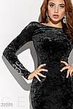 Черное платье миди из бархата, фото 4