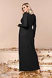 Торжественное платье-макси черного цвета больших размеров, фото 3