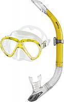 Набор Mares MAREA (маска + трубка) для дайвинга (желтый)