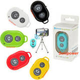Пульт ДУ Bluetooth Remote Shutter selfie white Розничная коробка, фото 4
