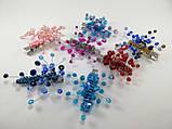 Заколка для волос с хрустальными бусинами Голубая Сиреневая, фото 10