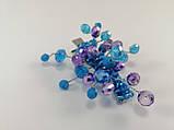 Заколка для волос с хрустальными бусинами Голубая Сиреневая, фото 2